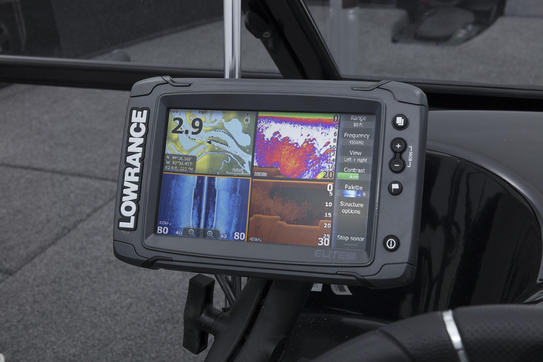 2018 Nitro Zv21 Mercury Smartcraft Speedometer Gps Wiring Lowrance Elite 7 Ti Combo Ram Mounted Fishfinder W