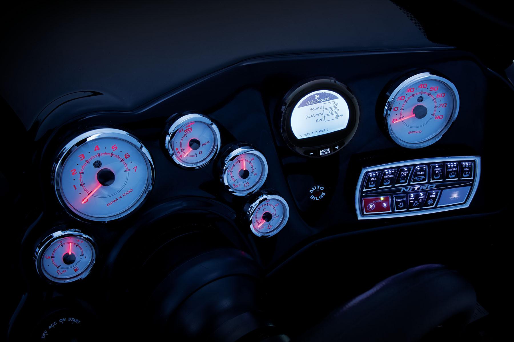 2018 Nitro Zv21 Z Pro High Performance Package Mercury Smartcraft Speedometer Gps Wiring W Verado Motor Electric Hydraulic Tilt Steering Digital Gauges