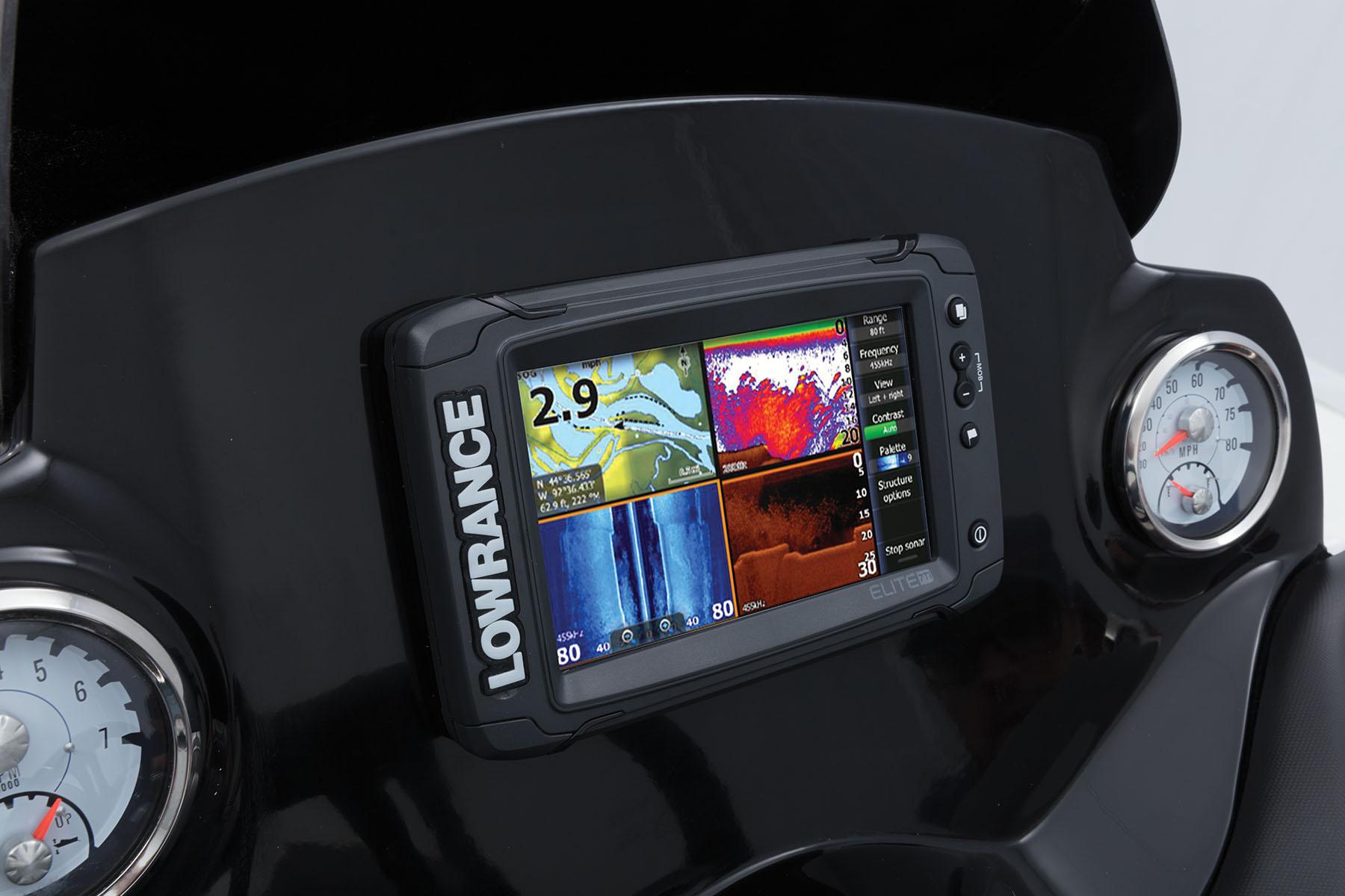 2018 Nitro Z21 Bass Boat Smartcraft Gps Wiring Lowrance Elite 7 Ti Combo Flush Mounted Fishfinder W
