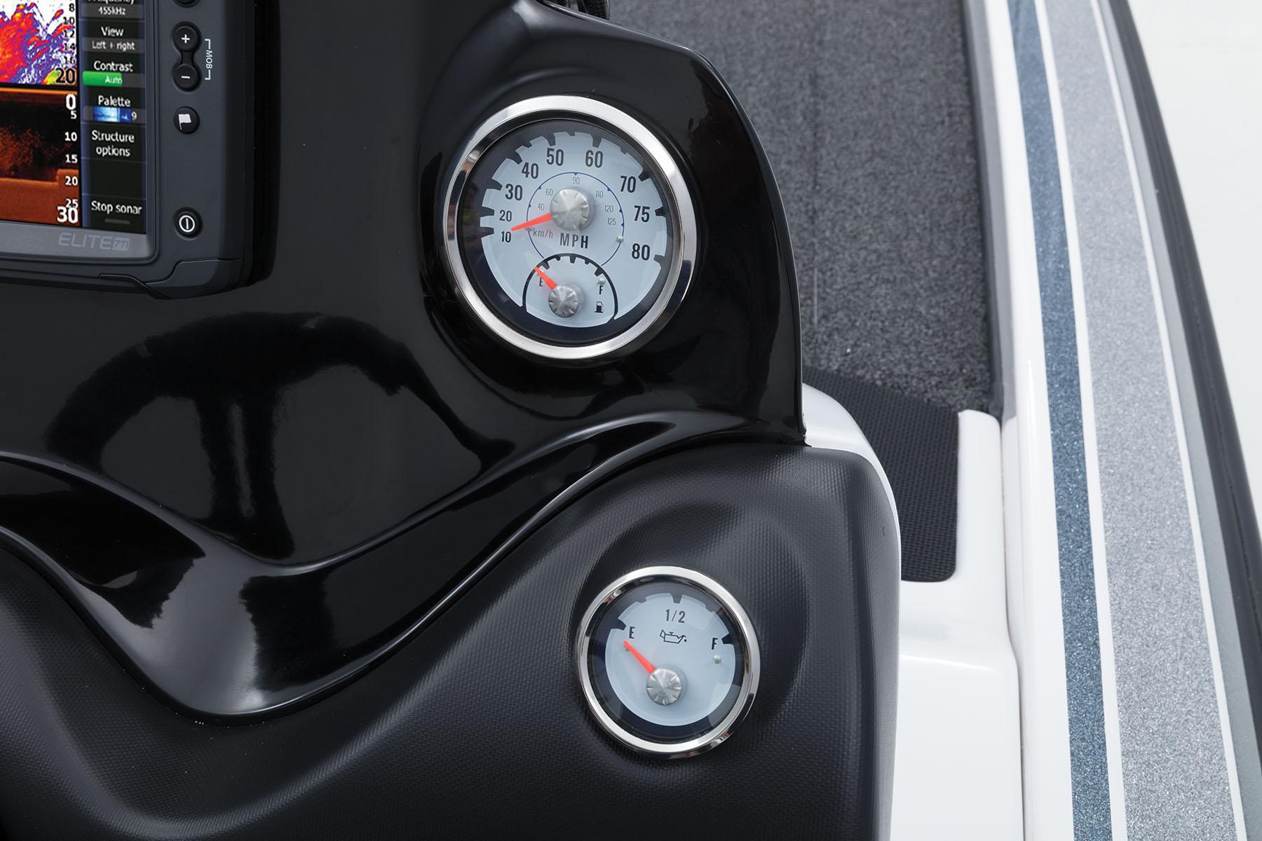 2018 Nitro Z21 Bass Boat Mercury Smartcraft Speedometer Gps Wiring Veethree Multifunction Instrumentation W Fuel Gauge Tach Trim Water Pressure Oil Level Indicator